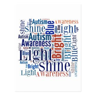 Azul del brillo para los productos del autismo postal