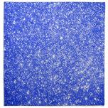 Azul del brillo servilletas de papel