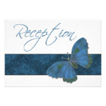 Azul del brocado de la mariposa de la recepción nu comunicados personales