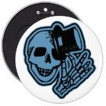 Azul del caballero del sombrero de copa del cráneo pin