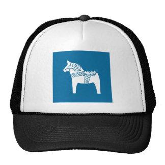 Azul del caballo de Dala Gorro De Camionero