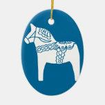 Azul del caballo de Dala Ornamentos De Reyes Magos