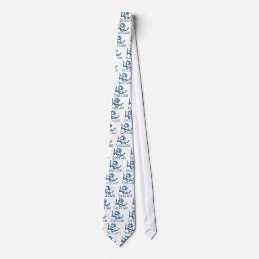 Azul del cadete del espacio corbatas personalizadas