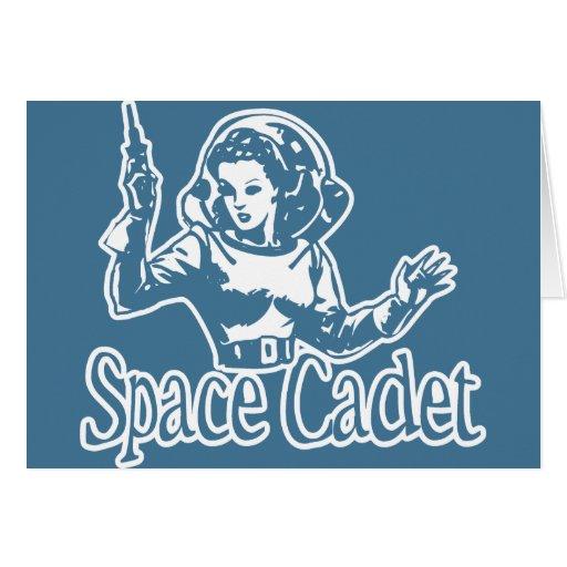 Azul del cadete del espacio tarjeta de felicitación