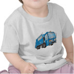azul del camión de basura 3d camiseta