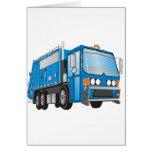 azul del camión de basura 3d felicitacion