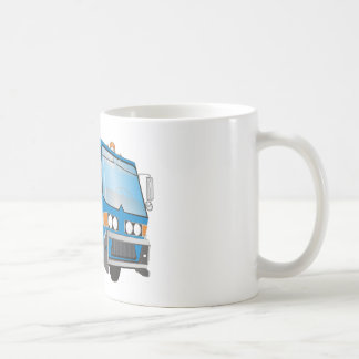 azul del camión de basura 3d taza de café