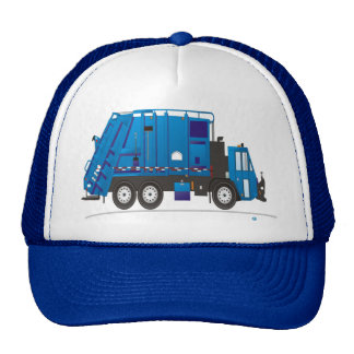 Azul del camión de la basura gorra