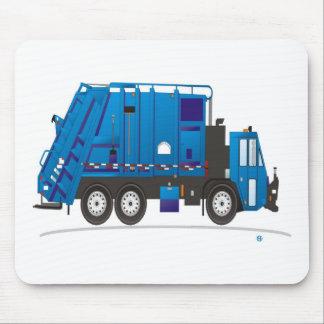 Azul del camión de la basura tapete de ratón