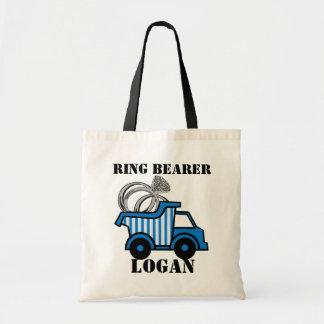 Azul del camión volquete del portador de anillo bolsa tela barata