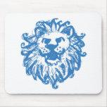 Azul del campeón 2 del león alfombrilla de ratones