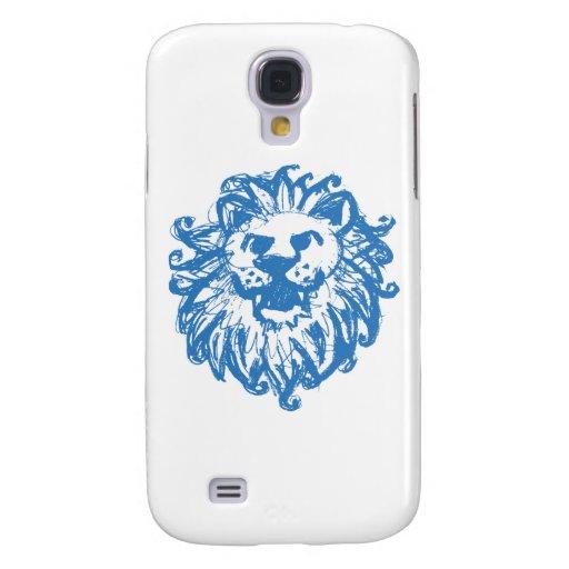 Azul del campeón 2 del león funda para galaxy s4