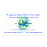 Azul del capítulo del estado de Washington Tarjetas De Visita
