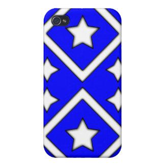 Azul del caso de Iphone 4 de la estrella del diama iPhone 4 Cárcasa
