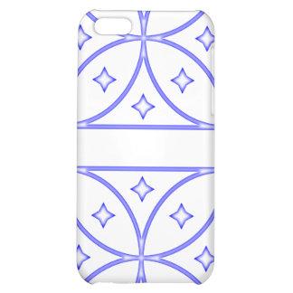 Azul del caso de Iphone 4 de las estrellas de la m