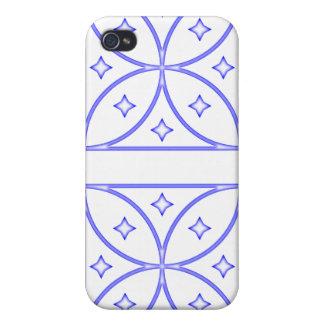 Azul del caso de Iphone 4 de las estrellas de la m iPhone 4 Coberturas