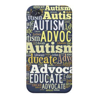Azul del caso de IPhone de la conciencia del autis iPhone 4/4S Funda