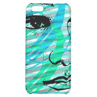 Azul del caso del iPhone 4 de la cara de la bellez