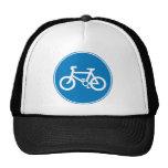 Azul del casquillo de la bicicleta gorras de camionero