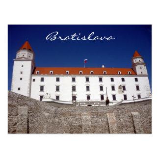 azul del castillo de Bratislava Postal