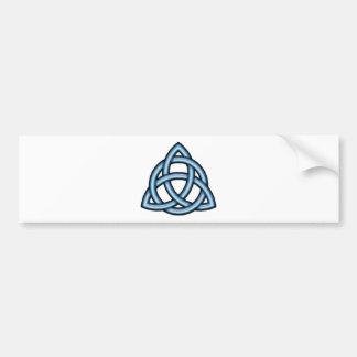 Azul del círculo de Triquetra Pegatina Para Auto