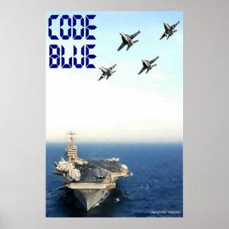 Azul del código: CVN 70 Póster