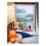 Azul del cojín del EL/la almohada azul. Postal