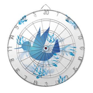 Azul del colibrí tabla dardos