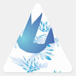 Azul del colibrí calcomanías de triangulos personalizadas