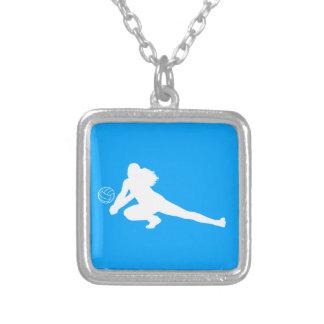 Azul del collar de la silueta del empuje