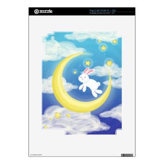 Azul del conejito de la luna skin para el iPad 2