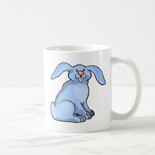 Azul del conejito tazas