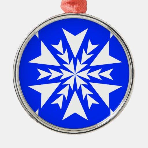 Azul del copo de nieve 13 adorno para reyes