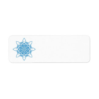 Azul del copo de nieve etiquetas de remite