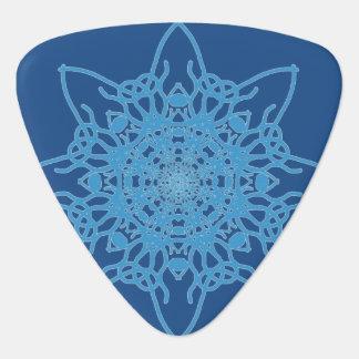 Azul del copo de nieve plectro