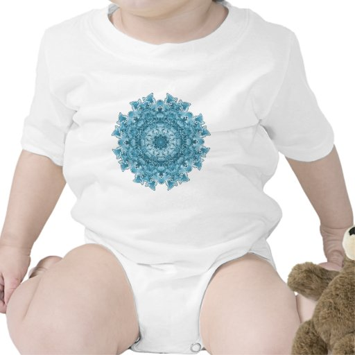 Azul del copo de nieve trajes de bebé