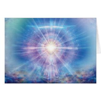 Azul del corazón del Meditator Felicitación