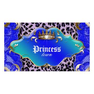 Azul del cordón del leopardo de la tarjeta de tarjetas de visita