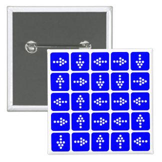 Azul del cuadrado de la flecha del LED Pin Cuadrado