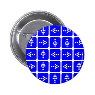 Azul del cuadrado de la flecha del LED Pin Redondo De 2 Pulgadas