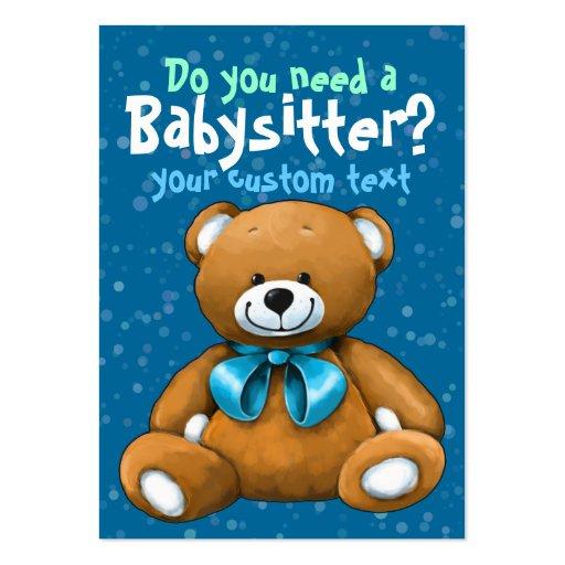 Azul del cuidado de niños de la guardería de la ni tarjetas de visita