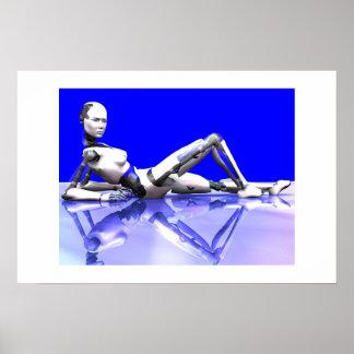 Azul del Cyborg Impresiones