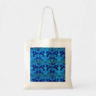 Azul del damasco bolsa tela barata