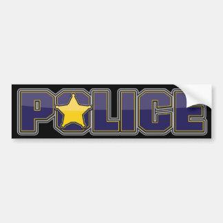 Azul del Departamento de Policía del lustre con la Pegatina Para Auto