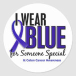 Azul del desgaste del cáncer de colon I para algui Pegatinas