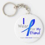 Azul del desgaste del cáncer de colon I para mi am Llaveros