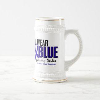 Azul del desgaste del cáncer de colon I para mi he Jarra De Cerveza