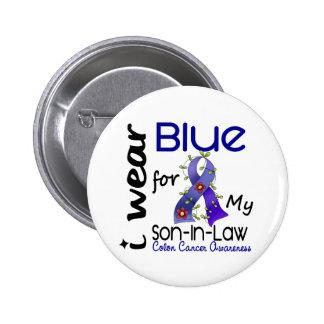Azul del desgaste del cáncer de colon I para mi Pin Redondo De 2 Pulgadas