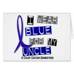 Azul del desgaste del cáncer de colon I para mi tí Tarjeta