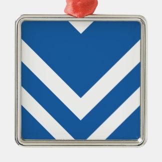 Azul del deslumbramiento de Chevron 2 Ornamento Para Arbol De Navidad